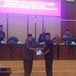 Rapat Paripurna DPRD tentang Penyampaian Penjelasan Bupati Ciamis terhadap Raperda APBD Kabupaten Ciamis Tahun Anggaran 2020